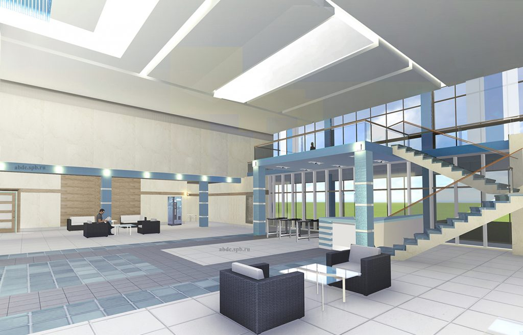 Проект интерьера холла